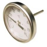 bimetaal thermometer Ø 50mm, 0...100°C, achter M8 x 40 x Ø 4mm