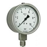 buisveermanometer, solid front, vloeistofgedempt