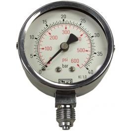 RVS manometer 0-40 bar voor LPP 30 handpomp