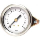 manometer Ø 63 (67) mm, dashboard, 16 bar/psi, achter G1/4