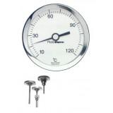 BL101 bimetaal thermometer, -30...60°C, achter 1/2BSP x 75mm
