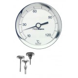 BL102 thermometer, -30...60°C, beschermhuls messing, achter 1/2BSP x 40mm
