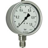 manometer Ø 100 mm, 6 bar, precisie indeling, onder G1/2